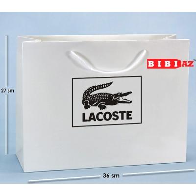 Подарочный пакет Lacoste (27x36)