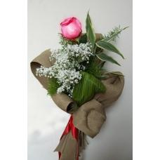 Композиция из 1 розы