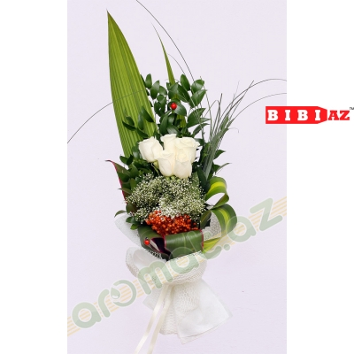 Букет из 5 роз (код 2355)