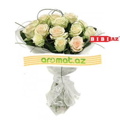 """Букет """"Нежный"""" из 21 белой розы (код 11051 )"""