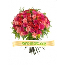 Букет из 55 роз (код 4405)