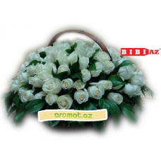 69 роз в корзине (код 6689)